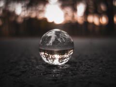 Lensball on street (Patryk Rejdych) Tags: polska poland autumn jesien sony sonyrx100 lensball bokeh outside street