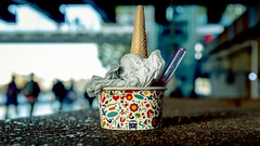 Cone Alone (Sean Batten) Tags: london england unitedkingdom europe streetphotography street icecream cone tub southbank city urban fujifilm x100f