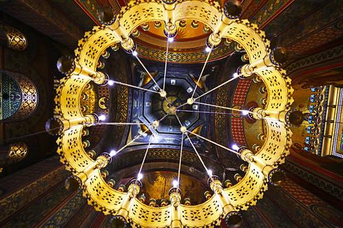 The lamp of the Cathedral, Curtea de Argeș, Romania