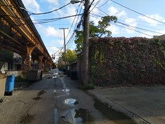 Blue Line Wicker Park Alley as seen in film (find myself a city (1001 Afternoons in Chicago)) Tags: westtown wickerpark