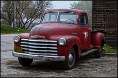 Big Red (newfrontier08) Tags: nikon d7100 sigma old truck wi wisconsin chevy chevrolet classic antique pickup pick up