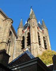 Delft, Old Church (Elisa1880) Tags: oude kerk delft toren tower church old nederland netherlands zuidholland