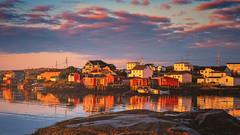 sunrise in tilting (-liyen-) Tags: newfoundland tilting fishingvillage sunrise canada summer fujixt2 mpt754 matchpointwinner