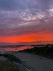 Terschelling (Anchye) Tags: terschelling waddeneiland strand water sand beach lovethesea loveholland waddenzee noordzee sunset zonsondergang rood