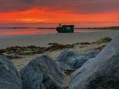 Terschelling (Anchye) Tags: terschelling waddeneiland strand water sand beach lovethesea loveholland waddenzee noordzee sunset zonsondergang container