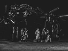 Lancaster Crew (davepickettphotographer) Tags: eastkirby lincolnshireheritageaviationcentre heritage aviation secondworldwar ww2 reenactors reenactment worldwar2 uk east england eastern airfield lancaster avro bomber justjane flight nightphotography nightshoot crew aircrew pilots raf