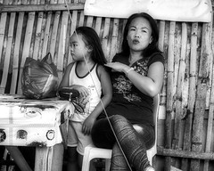 Mother and daughter (Beegee49) Tags: street people mother daughter blackandwhite monochrome sony happy planet bw a6400 bacolod city philippines asia happyplanet asiafavorites