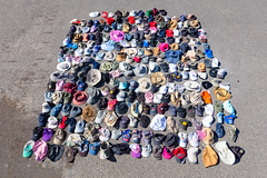 Some of the hats removed from hot springs during the 2018 summer (YellowstoneNPS) Tags: tapp ynp yellowstone yellowstonenationalpark hats trash