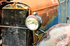 Vintage Truck Left headlight (Eyes Open To Life) Tags: automobile car vehicle transportation headlights grill vintage old antique rusty rust abandoned decayed auto ngc extraordinarilyimpressive