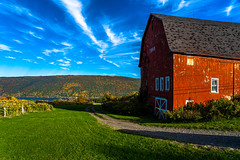 Red Barn on Canandaigua Lake (pa_cosgrove) Tags: canandaigua lake ny red barn fall autumn grass trees sky clouds landscape sony a73