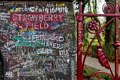It's getting hard to be someone, but it all works out (nickcoates74) Tags: liverpool sony sigma 30mmf28dn 30mm woolton strawberryfield strawberryfields strawberryfieldsforever johlennon beatles gate gatepost graffiti