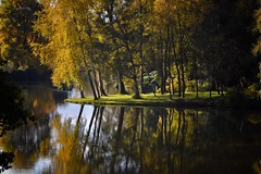 Light and Shade (Nige H (Thanks for 28m views)) Tags: nature landscape autumn fall autumncolours water reflection england wiltshire nationaltrust stourhead lightandshade trees