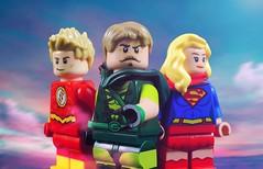 CW Trinity (-Metarix-) Tags: lego dc comics comic cw arrow minifig green flash supergirl tv custom trinity