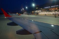 airport (Wolfgang Binder) Tags: airport inn innsbruck flight plane evening sky wing embraertarmac nikon d7000 zeiss distagon distagont2825