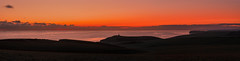 Belle Tout sunset (southdownswolf1) Tags: beachyhead birling gap sunset red orange sky cliffs sussex eastbourne east pano panorama panoramic sea clouds wind farm rampion seascape landscape belle tout lighthouse seaford