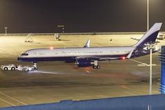 Private B757-200(WL) VQ-BTF 001 (A.S. Kevin N.V.M.M. Chung) Tags: aviation aircraft aeroplane airport airlines apron mfm macauinternationalairport spotting plane night beacon boeing b757200 biz jet