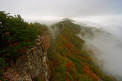 North Fork Mountain: Mist meets fog (Shahid Durrani) Tags: north fork mountain chimney top fog mist fall foliage monongahela national forest west virginia