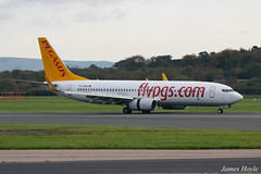 Pegasus TC-CRB B737-800 at Manchester Airport 22-10-19 (JH Aviation and Railway Photography) Tags: airliner airport aircraft aviation airways airlines aviationviewingpark avp egcc manchester manchesterairport southside jetliner jet jets