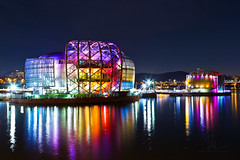 Sebitseom | Seoul Floating Islands (Phiery Phoenix Photography) Tags: canon canon6d 6d eos phiery phoenix phieryphoenix phieryphoenixphotography photography seoul south korea southkorea sebitseom floating islands floatingislands sebit islets han river hanriver banpo rainbow bridge hangang park color colors light lights night nighttime building buildings architecture manmade longexposure long exposure city citylights tourist touristy