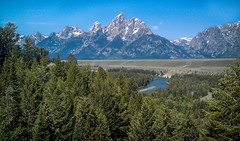 The Grand Tetons (donnieking1811) Tags: wyoming jackson grandtetons mountains river landscape outdoors trees water snow sky blue lightroom