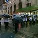 a line of umbrellas