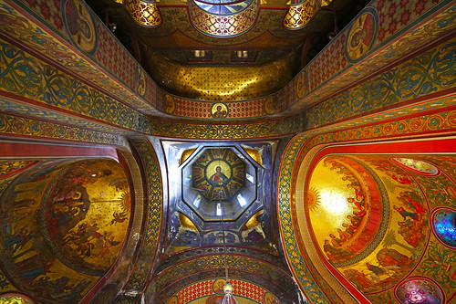 The vault of the Cathedral, Curtea de Argeș, Romania
