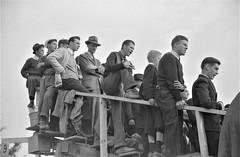 Cheap Seats: Spectators at the Duke University-North Carolina football game. Durham, North Carolina, October 1939. (polkbritton) Tags: marionpostwolcott 1930s northcarolinahistory fsaowi libraryofcongresscollections vintagefashion dukeuniversity vintagefootball