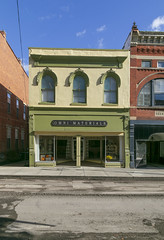 Building — Maysville, Kentucky (Pythaglio) Tags: commercial building structure historic twostory brick threebay fauxstone storefront sidewalk street cornice roundarched hoodmolds 22windows ornate maysville kentucky masoncounty italianate