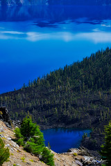 Crater Lake & Forest Oregon (designcover2006) Tags: crater craterlike water watercolor forest green usa oregon