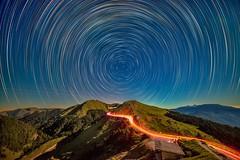 合歡山石門山~月光彩色星軌~  Moonlight Color Startrails (Shang-fu Dai) Tags: 台灣 taiwan nantou 南投 合歡山 mthehuan 石門山 星軌 彩色星軌 colorstartrails startrails nikon d800e 3237m formosa nightscene night starry happyplanet asiafavorites