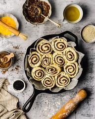 Zaatar Rolls 1 (omer.arahman) Tags: zaatar middleeastern food rolls foodphotos yummy olives oil pan skillet flatlay