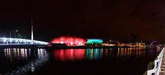 Glasgow By Night (Valantis Antoniades) Tags: armadillo sse hydro crane finnieston bells bridge river clyde night glasgow scotland modern architecture