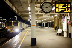 You Took Your Time... (marcus.45111) Tags: sheffieldmidland 6m45 train railway freight 66550 platform6 clock flickr flickruk 2019