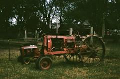Old Farmall Tractor (MFBodisch) Tags: vintage farmall tractor farm equipment pecan fest fulmers farmstead richton mississippi usa voigtlander vitob fujica superia 400 classic 35mm film camera