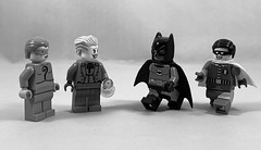 2019-295 - National Color Day (Steve Schar) Tags: theriddler thejoker robin batman blackandwhite color nationalcolorday minifigure lego iphonexs iphone project365 sunprairie wisconsin 2019