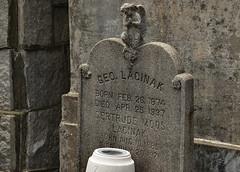 GEO. LACINAK (BKHagar *Kim*) Tags: bkhagar cemetery graveyard tomb memorial neworleans nola la angel tombstone marker lacinak stjosephcemetery