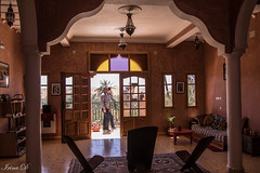 In or out? HWW (Irina1010) Tags: indoors outdoors doors opened windows people columns sofa parlor riad architecture morocco canon