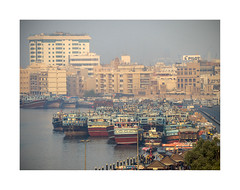 Heat haze 1 (jen 3163) Tags: dubai uae united arab emirates boats dubaicreek harbour heat heathaze architecture