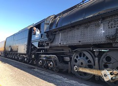 """The Return of the """" BIG BOY 4014"""" (ATOMIC Hot Links) Tags: bigboy4014 4884 unionpacificbigboy bigboyno4014unionpacificrailroad tracks pomona southerncalifornia socal lacounty cheyennewyoming 4000class4884articulated ironhorse steamlocomotives diesel tender power powerful trains modeltrains models locomotives ogauge oscale steamengines steam toys lionel passengercars tankers railroad tractiveeffort vintage rail boiler trainyard transportation piggyback trailertrain flatcars boxcars crossing couplers trainwhistles superchief sleepingcar baggagecar diningcar vistadome observationcar watertower traintracks freighttrain freight articulated drivers valvegear bearings connectingrods atomichotlinks engine"""