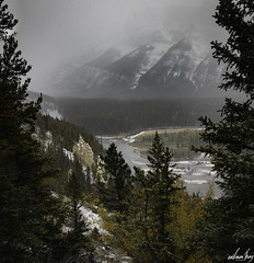 Hoodoo ([CamCam]) Tags: envision thing camcam canon 5d markiv iv envisionthing canada banff hood hoodoos rock formation snow winter mountain mountains mist misty river water