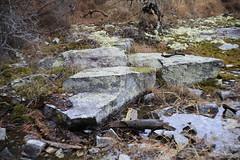 Landscape with Boulders (DayBreak.Images) Tags: suburban atlanta georgia dekalbcounty arabiamtn naturepreserve landscape boulders water lichen canondslr meyeroptic 50mm trioplan canonphotopro4