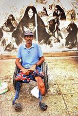 Sans Titre (klauslang99) Tags: klauslang streetphotography poverty wheelchair man disabled cartagena colombia