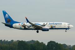 TC-SNN (PlanePixNase) Tags: aircraft airport planespotting haj eddv hannover langenhagen sunexpress boeing 737 737800 b738 playstation