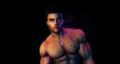 Colour me . . . (Greydude12) Tags: leo leogrey klinegrey kline grey man male muscles muscular second secondlife life light sl handsome hot hunk photoshop brunette boys blue dark aesthetic head colour photography leogendary chest