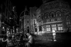 He found himself within a glade he'd not beheld before (.KiLTЯo.) Tags: kiltro it italy italia firenze florence santamariadelfiore cathedral city urban street people longexposure bw blackandwhite life night toscana tuscany