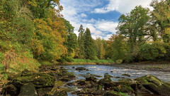 River Roe in all its autumn glory (jac.photography49) Tags: autumn canon clouds countrypark exposure reflections fullframe images ireland view wideangle 5dmkiii sky rocks northernireland ngc river roevalley roe tree tiltsshift valley water 24mm 5dmklll