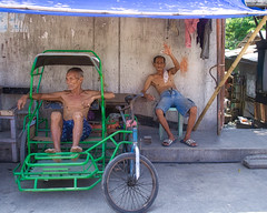 Hello Chaps (Beegee49) Tags: people street men old elderly resting sitting pedicabs happyplanet sony a6400 bacolod city philippines