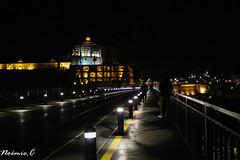 Porto by night (Noemie.C Photo) Tags: porto pont dom luis monastere light lumière nuit night ville city tram metro bridge noir black jaune yellow urban urbain rue street portugal monument