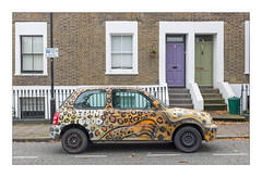The Built Environment, East London, England. (Joseph O'Malley64) Tags: nissanmicra car motorcar motor automobile transport graffiti thebuiltenvironment newtopography newtopographics manmadeenvironment
