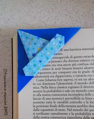 Wizard hat bookmark (mancinerie) Tags: origami paperfolding papiroflexia papierfalten francescomancini mancinerie wizard hat bookmark